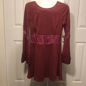 Romeo and Juliet couture burgundy dress